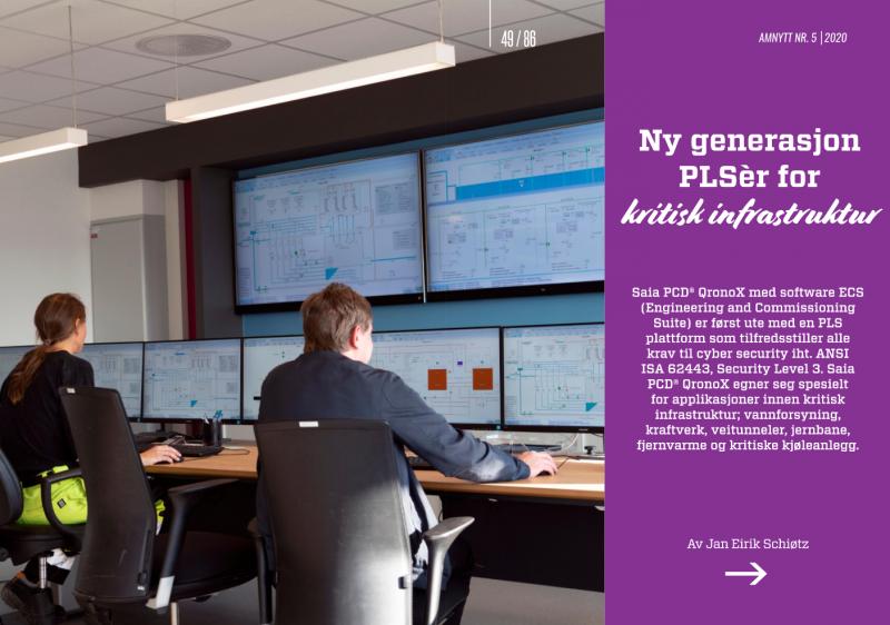 Forsiden på artikkelen om ny generasjon PLS for kritisk infrastruktur