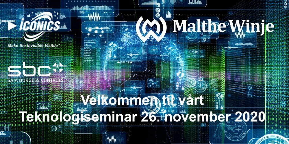 Velkommen til vårt Teknologiseminar 26. november 2020