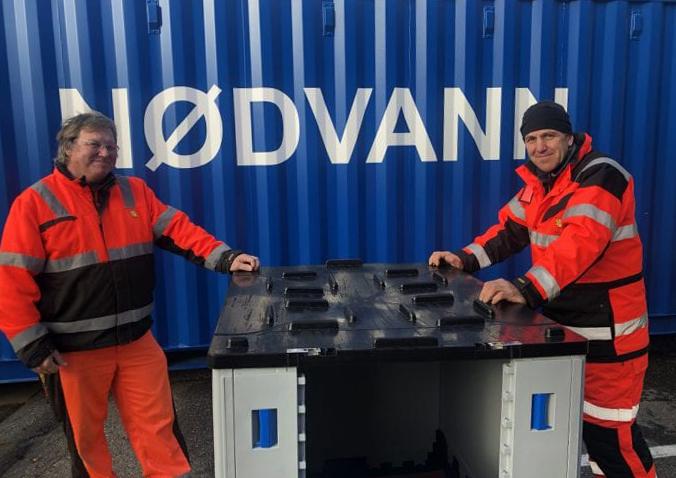 Folk fra Fredrikstad Kommunes driftsavdeling